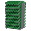 Akro-Mils 18 2-Sided Pick Rack, 128 ShelfMax, Gray/Green
