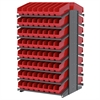 Akro-Mils 18 2-Sided Pick Rack, 128 ShelfMax, Gray/Red