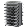 18 2-Sided Pick Rack, 128 ShelfMax, Gray/Clear