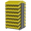 Akro-Mils 18 2-Sided Pick Rack, 128 ShelfMax, Gray/Yellow