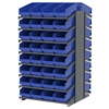 18 2-Sided Pick Rack, 64 ShelfMax, Gray/Blue