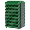 Akro-Mils 18 2-Sided Pick Rack, 64 ShelfMax, Gray/Green