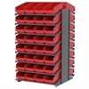 18 2-Sided Pick Rack, 64 ShelfMax, Gray/Red