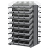 18 2-Sided Pick Rack, 64 ShelfMax, Gray/Clear