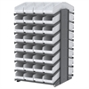 18 2-Sided Pick Rack, 64 ShelfMax, Gray/White
