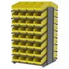 Akro-Mils 18 2-Sided Pick Rack, 64 ShelfMax, Gray/Yellow