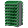 18 2-Sided Pick Rack, 80 ShelfMax, Gray/Green