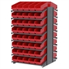 Akro-Mils 18 2-Sided Pick Rack, 80 ShelfMax, Gray/Red