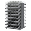 18 2-Sided Pick Rack, 80 ShelfMax, Gray/Clear