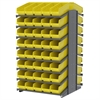 Akro-Mils 18 2-Sided Pick Rack, 80 ShelfMax, Gray/Yellow