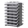 18 2-Sided Pick Rack, 48 AkroDrawers, Gray/Clear