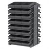 18 2-Sided Pick Rack, 48 AkroDrawers, Gray