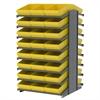 Akro-Mils 18 2-Sided Pick Rack, 48 AkroDrawers, Gray/Yellow