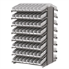 18 2-Sided Pick Rack, 132 Shelf Bins, Gray/White