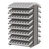 Akro-Mils 18 2-Sided Pick Rack, 132 Shelf Bins, Gray/White