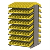 Akro-Mils 18 2-Sided Pick Rack, 132 Shelf Bins, Gray/Yellow
