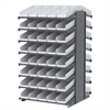 18 2-Sided Pick Rack, 84 Shelf Bins, Gray/White