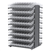 18 2-Sided Pick Rack, 144 AkroDrawers, Gray/Clear