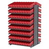 Akro-Mils 18 2-Sided Pick Rack, 144 AkroDrawers, Gray/Red