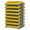 18 2-Sided Pick Rack, 144 AkroDrawers, Gray/Yellow