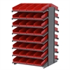 Akro-Mils 18 2-Sided Pick Rack, 72 Shelf Bins, Gray/Red
