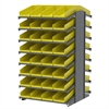Akro-Mils 18 2-Sided Pick Rack, 72 Shelf Bins, Gray/Yellow