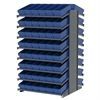 18 2-Sided Pick Rack, 96 AkroDrawers, Gray/Blue