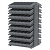 Akro-Mils 18 2-Sided Pick Rack, 96 AkroDrawers, Gray