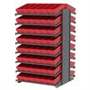 18 2-Sided Pick Rack, 96 AkroDrawers, Gray/Red