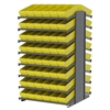 Akro-Mils 18 2-Sided Pick Rack, 96 AkroDrawers, Gray/Yellow