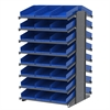 Akro-Mils 18 2-Sided Pick Rack, 48 Shelf Bins, Gray/Blue