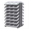 18 2-Sided Pick Rack, 48 Shelf Bins, Gray/White