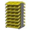 Akro-Mils 18 2-Sided Pick Rack, 48 Shelf Bins, Gray/Yellow
