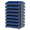 Akro-Mils 18 2-Sided Pick Rack, 64 AkroDrawers, Gray/Blue