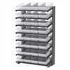 Akro-Mils 18 2-Sided Pick Rack, 64 AkroDrawers, Gray/Clear