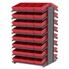 Akro-Mils 18 2-Sided Pick Rack, 64 AkroDrawers, Gray/Red