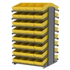 18 2-Sided Pick Rack, 64 AkroDrawers, Gray/Yellow
