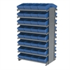 12 2-Sided Pick Rack, 64 AkroDrawers, Gray/Blue