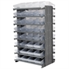 12 2-Sided Pick Rack, 64 AkroDrawers, Gray/Clear