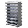 Akro-Mils 12 2-Sided Pick Rack, 64 AkroDrawers, Gray/Clear