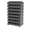 Akro-Mils 12 2-Sided Pick Rack, 64 AkroDrawers, Gray/Gray
