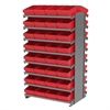 Akro-Mils 12 2-Sided Pick Rack, 64 AkroDrawers, Gray/Red