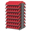 Akro-Mils 18 2-Sided Pick Rack, 20 System Bins, Gray/Red