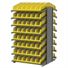 Akro-Mils 18 2-Sided Pick Rack, 20 System Bins, Gray/Yellow