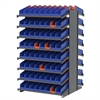 2-Sided Pick Rack, 132 Indicator Bins, Gray/Blue
