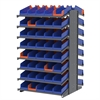 18 2-Sided Pick Rack, 84 Indicator Bins, Gray/Blue