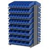 Akro-Mils 18 2-Sided Pick Rack, 104 ShelfMax, Gray/Blue
