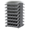 18 2-Sided Pick Rack, 104 ShelfMax, Gray/Clear