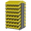 Akro-Mils 18 2-Sided Pick Rack, 104 ShelfMax, Gray/Yellow