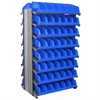 Akro-Mils 12 2-Sided Pick Rack, 20 System Bins, Gray/Blue